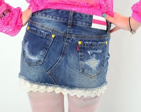 Юбка из джинсовых брюк с доставкой