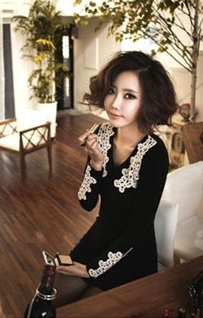 2990552d1e2 Платье с кружевным воротом и манжетами №14 купить за 1599 руб. в интернет- магазине kawaicat.ru