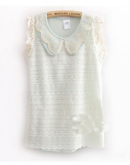 Купить блузка с круглым воротником