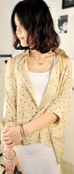 Открытые блузки