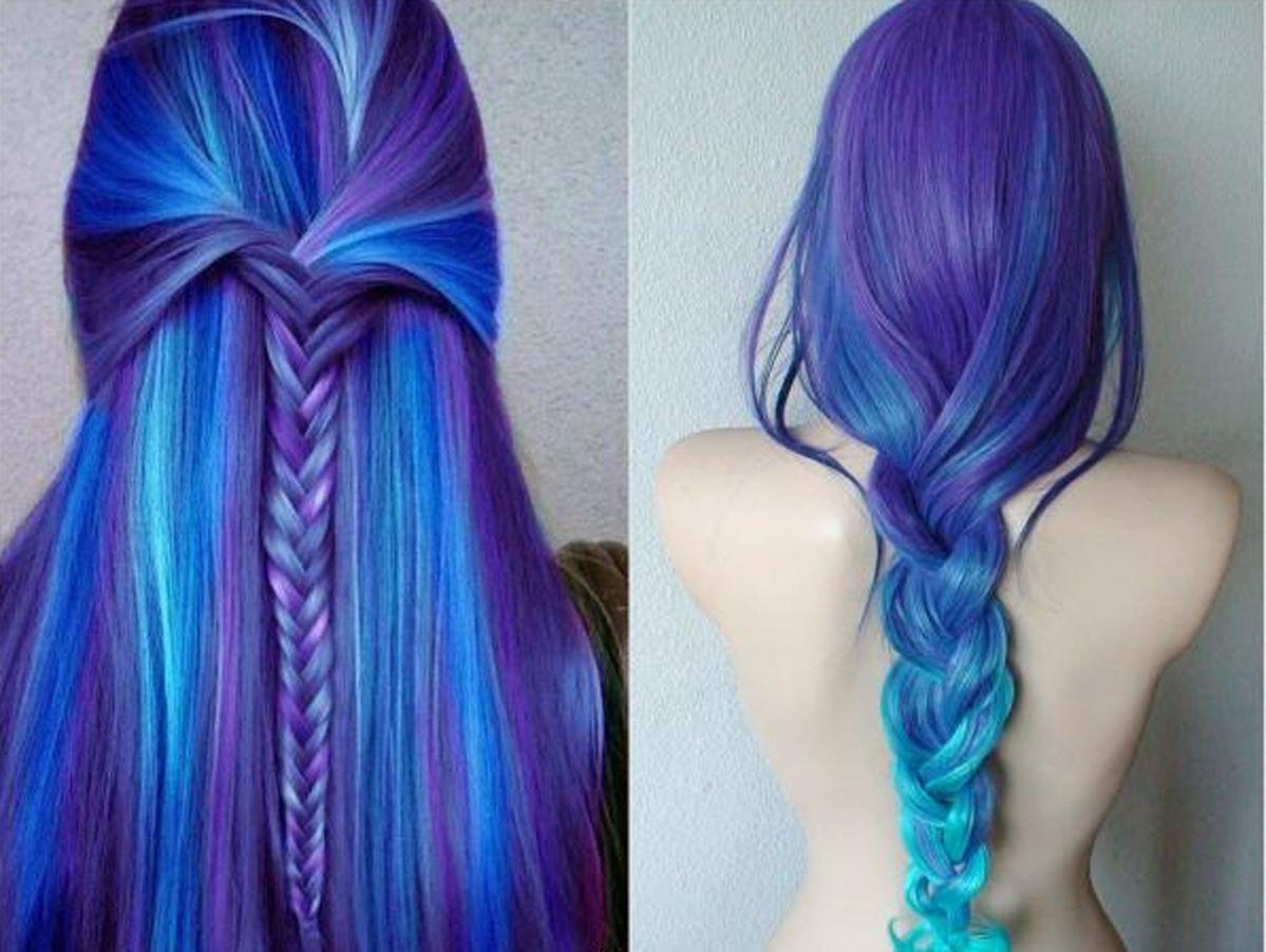 Как покрасить волосы в синий цвет: шевелюра голубого холодного оттенка 23